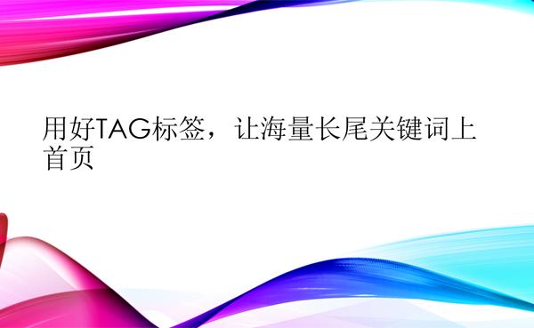 使用TAG标签,让大量的长尾关键词上首页